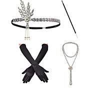abordables -Bandeaux Collier de perles Tenue Années 1920 Alliage Pour Gatsby le magnifique Cosplay Femme Bijoux de fantaisie Bijoux fantaisie / Gants / Bâton de cigarette
