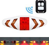 economico -LED Luci bici Luce indicatore di direzione Luce posteriore per bici luci di sicurezza Ciclismo da montagna Bicicletta Ciclismo Impermeabile Portatile Telecomando Senza fili AAA 15 lm Rosso Giallo