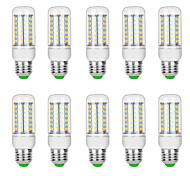 abordables -10 pièces 10 W Ampoules Maïs LED 3000 lm G9 B22 E12 / E14 T 69 Perles LED SMD 5730 Blanc Chaud Blanc 220 V 110 V