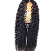 abordables -perruque synthétique jerry curl perruque de coupe de cheveux en couches très longues cheveux synthétiques noirs naturels 22 pouces nouvelle arrivée des femmes noir (non-dentelle)