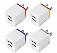 cheap -USB Double Wall Fast Charger Adapter 1A 2A 5V for Android / Galaxy / iPhone