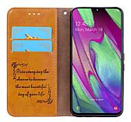 economico -telefono Custodia Per Samsung Galaxy Integrale Custodia in pelle Custodia flip A40 Porta-carte di credito Con chiusura magnetica Tinta unica Resistente pelle sintetica