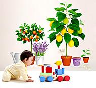 abordables -nature morte / floral / botanique stickers muraux avion stickers muraux stickers muraux décoratifs, pvc décoration de la maison sticker mural décoration murale 1 pc / amovible 60 * 90 cm