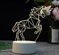 abordables -Plaque 3D LED Lampe Créative 3D LED Veilleuses Nouveauté Illusion Nuit Lampe 3D Illusion Lampe De Table Pour La Maison Décorative