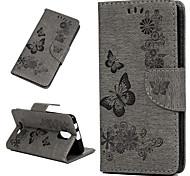 economico -telefono Custodia Per Wiko Integrale Wiko Jerry 3 A portafoglio Resistente agli urti Con chiusura magnetica Fiore decorativo Animali Resistente pelle sintetica