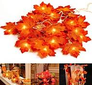 economico -3M Fili luminosi 20 LED 1 set Giallo giorno del Ringraziamento Batteria con custodia Decorativo 3 V
