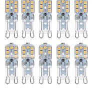 abordables -10 pièces 2 W Ampoules Maïs LED LED à Double Broches 350 lm G9 T 14 Perles LED SMD 2835 Intensité Réglable Décorative Adorable Blanc Chaud Blanc Froid 220-240 V