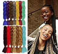 abordables -Crochet Hair Braids Jumbo Box Braids Cheveux Synthétiques Rajouts de Tresses 1 pc / paquet