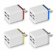 cheap -5.1A USB Power Adapter Wall Charger 4 Ports Travel Charger Cube Block