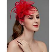 economico -A rete fascinators / Copricapo / Accessori per capelli con Piume / Floreale / Intagli 1 pezzo Matrimonio / Occasioni speciali / Corsa di cavalli Copricapo