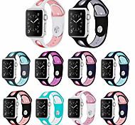 economico -Cinturino intelligente per Apple  iWatch 1 pcs Cinturino sportivo Silicone Sostituzione Custodia con cinturino a strappo per Apple Watch Serie SE / 6/5/4/3/2/1 38 millimetri 40 mm 42 millimetri 44mm