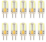 abordables -10pcs 3 W LED Maïs Lumières LED Bi-Pin Lumières 300 LM GY6.35 T 48 LED Perles SMD 3014 Blanc Chaud Blanc AC / DC12-24 V