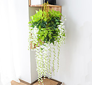 abordables -Fleur artificielle 1 pc branche moderne contemporaine éternelle fleur mur simulation de la fleur usine de fleur de glycine direct haricot fleur tenture de mariage arc décoration fleur plafond de