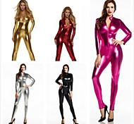 abordables -Combinaison Morphsuit Combinaison-pantalon Costume de peau Fille de moto Adulte Spandex Latex Costumes de Cosplay Genre Femme Couleur Pleine Halloween / Collant / Combinaison / Costume Zentai