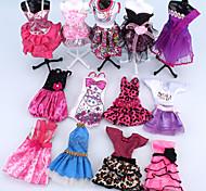economico -Accessori della bambola Abito da bambola Moderno Elegante Tulle Pizzo Poliestere Soffice Decorativo Giocattolo fatto a mano per i regali di compleanno della ragazza / Bambino