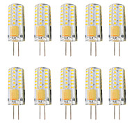 abordables -10 pièces 3 W LED à Double Broches 300 lm G4 T 48 Perles LED SMD 3014 Intensité Réglable Blanc Chaud Blanc 12-24 V