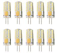 economico -10 pezzi 3 W Luci LED Bi-pin 300 lm G4 T 48 Perline LED SMD 3014 Oscurabile Bianco caldo Bianco 12-24 V