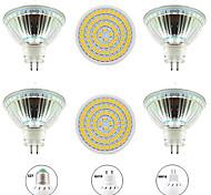 abordables -6pcs 8 W Spot LED 800 lm GU10 MR16 E26 / E27 80 Perles LED SMD 2835 Design nouveau Blanc Chaud Blanc 220-240 V 110-120 V