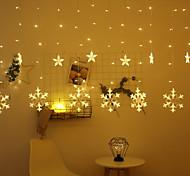 economico -2.5 m 138 led luci stringa tenda fiocco di neve spina ue luci fata natale capodanno san valentino luce decorativa