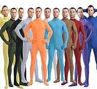 abordables -Combinaison Morphsuit Costume de peau Ninja Adulte Spandex Lycra Costumes de Cosplay Genre Homme Femme Couleur Pleine Halloween / Collant / Combinaison / Costume Zentai / Combinaison-pantalon