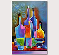 abordables -Peinture à l'huile Hang-peint Peint à la main Verticale Nature morte Moderne Rideau (sans cadre)