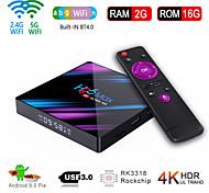 economico -h96 max smart android 9.0 tv box rk3318 quad core 64 bit uhd 4k vp9 h.265 2gb / 16gb 2.4g / 5g wifi bt4.0 hd media player tv box tv