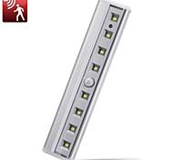 abordables -8 Ampoules LED Veilleuses bar capteur de mouvement placard de lumière sous armoire lumière batterie exploité lampe sans fil