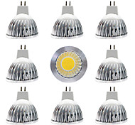 abordables -9pcs 12 W Spot LED 300 lm MR16 MR16 1 Perles LED COB Intensité Réglable Design nouveau Blanc Chaud Blanc 12 V