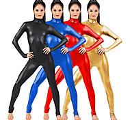 abordables -Combinaison Morphsuit Combinaison-pantalon Costume de peau Fille de moto Adulte Spandex Latex Costumes de Cosplay Genre Homme Femme Couleur Pleine Halloween / Collant / Combinaison / Costume Zentai