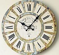 economico -Muto di legno solido della personalità dell'orologio della decorazione del ristorante della casa dell'orologio dell'autoadesivo della parete 1pcs 30*30cm