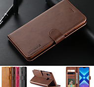 abordables -téléphone Coque Pour Huawei Coque Intégrale Étui en cuir Wallet P smart 2017 Huawei P Smart 2019 Huawei P Smart Plus (2019) Honor 10 Lite Profitez de 9S Portefeuille Porte Carte Avec Support Couleur