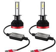 abordables -2 pcs Mini LED Ampoule Phare De Voiture Super Blanc H1 100 W 20000lm 6000 K Phare De Voiture 2 DOB Puces Plein Angle De Faisceau Étanche IP67