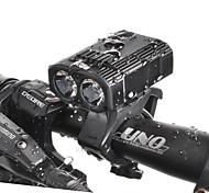 economico -LED Luci bici Luce frontale per bici LED Bicicletta Ciclismo Rilascio rapido Litio-polimero 550 lm Batteria ricaricabile Bianco Ciclismo / Rotazione a 360° / IPX 6