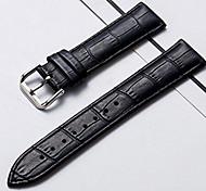 economico -vera pelle / Pelle / Pelo di vitello Cinturino per orologio  Nero / Marrone altro / 20 cm / 7,9 pollici 1 cm / 0,39 pollici / 1,2 cm / 0,47 pollici