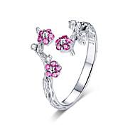 economico -100% argento sterling 925 fioritura invernale fiore di prugna anelli di dimensioni aperte per gioielli da fidanzamento matrimonio donna