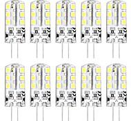 abordables -10pcs mini ampoule led g4 3w 24 perles led smd 2835 équivalent à l'ampoule halogène g4 30w blanc chaud 3000k lumière du jour blanc 6000k base g4 dc12v ac220v
