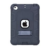 economico -telefono Custodia Per Apple Per retro iPad Mini 3/2/1 Resistente agli urti Con supporto Tinta unita Gel di silice PC