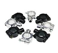abordables -Support de montage de l'adaptateur de guidon de moto universel en aluminium de 10mm avec supports de fixation