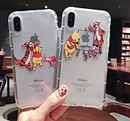 abordables -étui pour apple iphone xs max / iphone x silicone souple antichoc apple coque de protection dessin animé tpu motif pochette sac plastique souple pour iphone 6 / iphone 6s plus / iphone 8