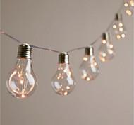abordables -lumières de fête de fête menées guirlande extérieure 4m 10 ampoules guirlande étanche guirlandes lumineuses pour les événements de mariage lumières bar de fête de jardin décoration de bistro