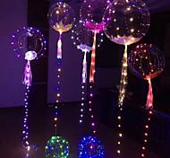 abordables -poignée led ballon de noël lumineux transparent ballons à bulles d'hélium décorations de fête d'anniversaire de mariage enfant ballon lumineux à LED