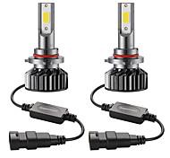 abordables -2pcs mini voiture a mené l'ampoule de phare 9005 / hb3 salut / lo 72w phare de voiture 6000k