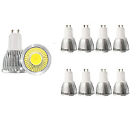 abordables -10pcs 5 W Spot LED 450 lm GU10 1 Perles LED COB Décorative Blanc Chaud Blanc Froid 85-265 V / RoHs