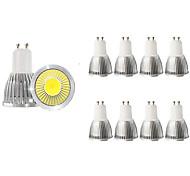 economico -10 pezzi 5 W Faretti LED 450 lm GU10 1 Perline LED COB Decorativo Bianco caldo Luce fredda 85-265 V / RoHs