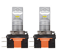 abordables -2pcs / lot voiture h15 led avec puce csp 6smd drl led hi / lo auto lampe de brouillard feux diurnes tournant ampoule phare pour audi bmw mercedes dc12v