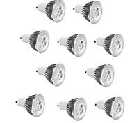 abordables -10 pièces 3 W Spot LED 250 lm E14 GU10 GU5.3 3 Perles LED LED Haute Puissance Décorative Blanc Chaud Blanc Froid 85-265 V