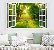 abordables -Stickers muraux décoratifs - Stickers muraux avion paysage / floral / salon botanique / chambre / cuisine / repositionnable 90 * 60cm
