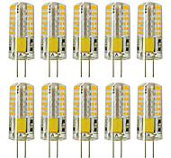 abordables -zdm 10pcs g4 5w 3014 x 48 led lampes à lumière blanche ac12v non-dimmable équivalentes à 20w-25w t3 ampoule halogène de piste