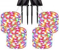 economico -la luce solare esterna della stringa ha condotto la luce solare del giardino 30m luci della stringa luci esterne della stringa 300 led 1set staffa di montaggio 4 pezzi bianco caldo rgb bianco