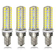 economico -4pcs 7 W LED a pannocchia 300 lm E14 E12 72 Perline LED SMD 2835 Oscurabile 220-240 V 110-120 V
